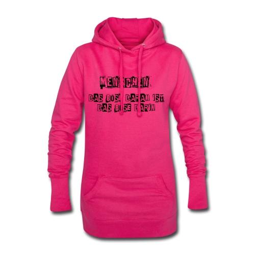 Das Böse am Menschen lustiger sarkastischer Spruch - Hoodie-Kleid