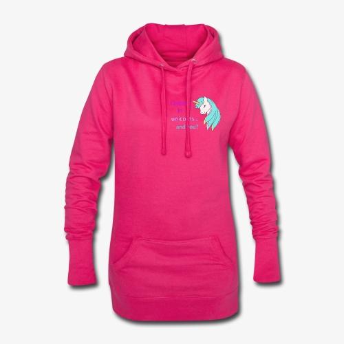 i believe in unicorns - Sweat-shirt à capuche long Femme