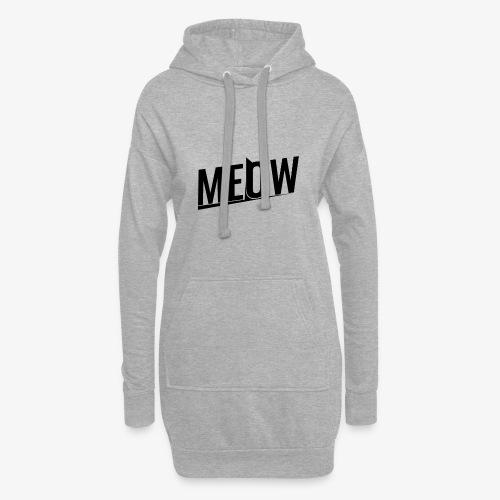 Meow black - Długa bluza z kapturem