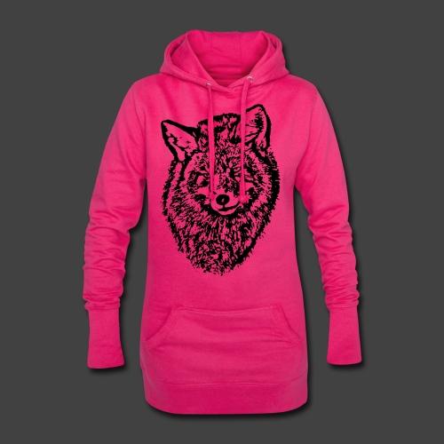 FOX1 - BLACK - Hoodie Dress