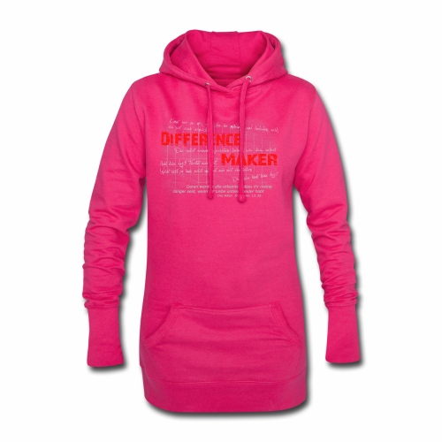 Difference Maker hell - Hoodie-Kleid