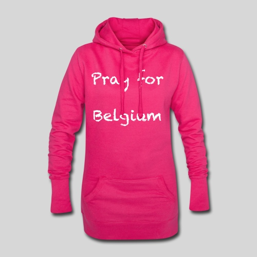Pray for Belgium - Sweat-shirt à capuche long Femme