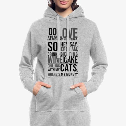 Wine, Cake, Cats - Black - Hupparimekko