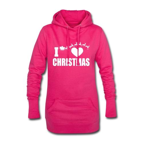 I Love Christmas Heart Natale - Vestitino con cappuccio