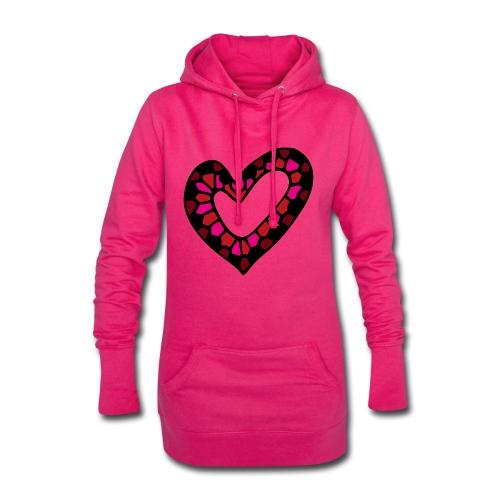 Herz Mosaik Buntglas - Hoodie-Kleid