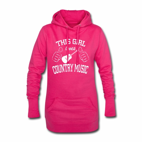 This Girl Loves Country Music - Hoodie Dress