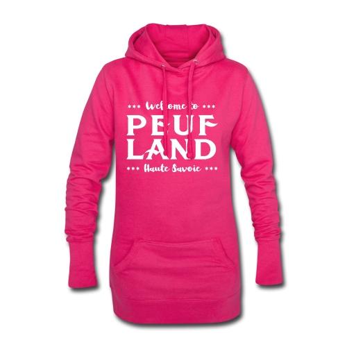 Peuf Land 74 - white - Sweat-shirt à capuche long Femme
