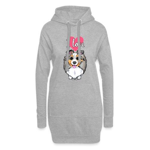 Sheltie Dog Love 3 - Hoodie Dress