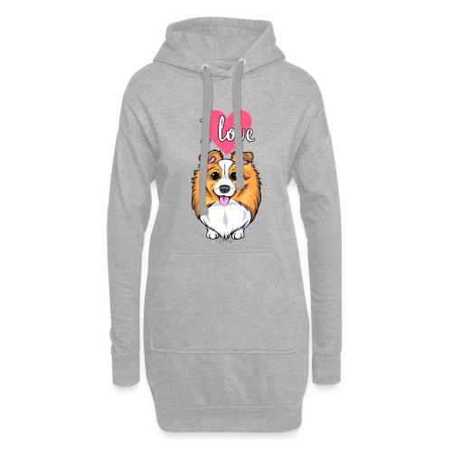 Sheltie Dog Love 2 - Hoodie Dress