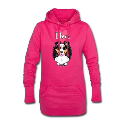 Sheltie Dog Love - Hoodie Dress