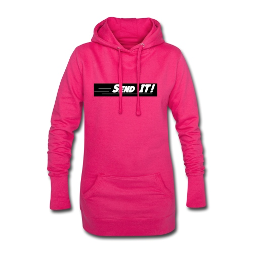 send it logo black and white - Hoodie Dress