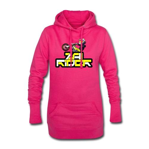 LOGO ZAI RIDER - Sweat-shirt à capuche long Femme