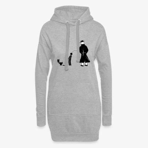 """Pissing Man against """"I can not piss properly guy"""" - Hoodie-Kleid"""