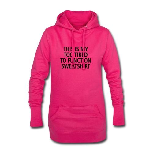 Sweatshirt black - Hoodie-Kleid