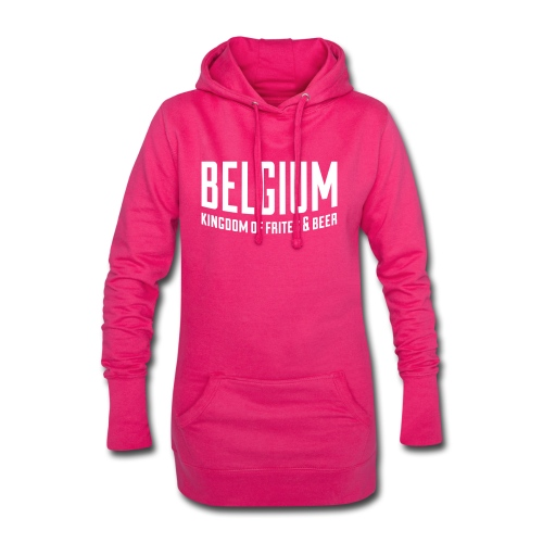Belgium kingdom of frites & beer - Sweat-shirt à capuche long Femme