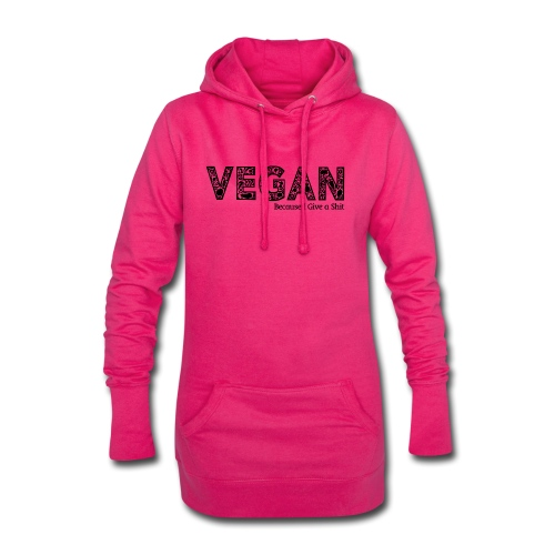 vegan because i give s#it - Hoodie Dress
