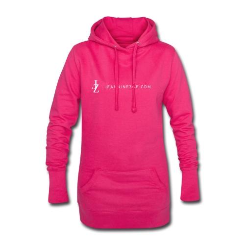 JZ Logo (weiss) - Hoodie-Kleid
