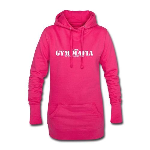 gym_mafia_white - Długa bluza z kapturem