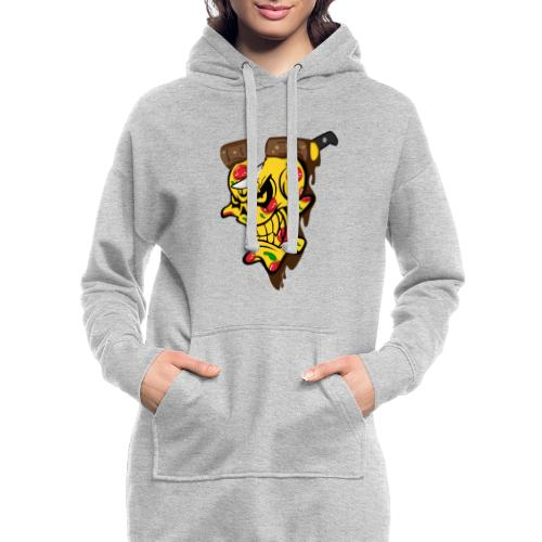 Pizza Schädel mit Messer - Hoodie-Kleid