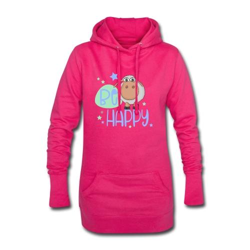Be happy Schaf - Glückliches Schaf - Glücksschaf - Hoodie-Kleid