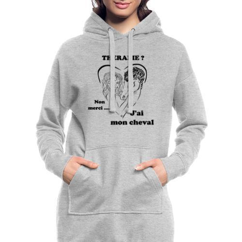 cheval thérapie FC - Sweat-shirt à capuche long Femme