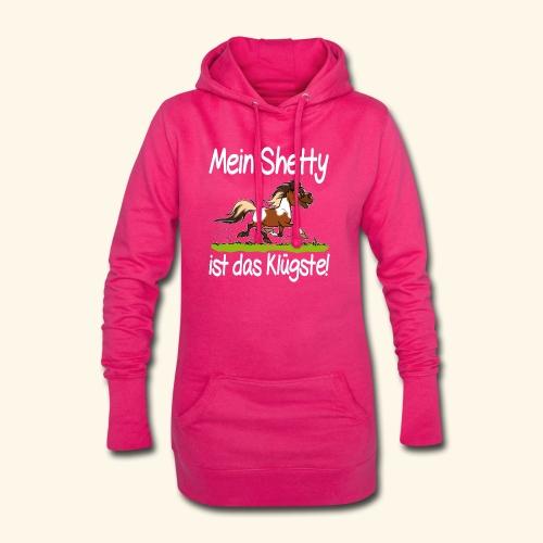 Mein Shetty das Klugste (Text weiss - Sweat-shirt à capuche long Femme