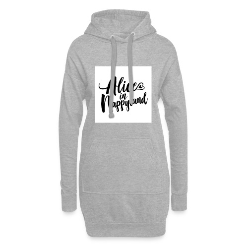 Alice in Nappyland Typography Black 1080 1 - Hoodie Dress
