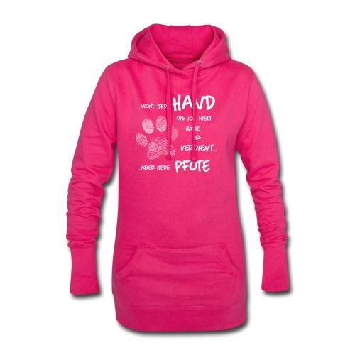 Hand Pfote Hund - Hoodie-Kleid