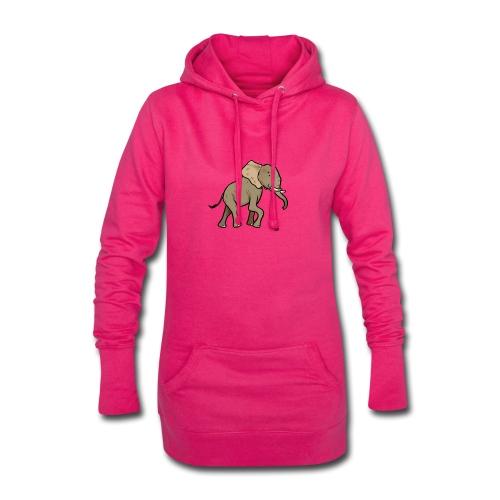 Éléphant d'Afrique - Sweat-shirt à capuche long Femme