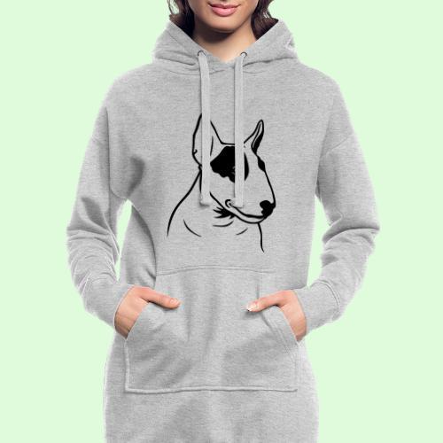 Tête de Bull Terrier - Sweat-shirt à capuche long Femme