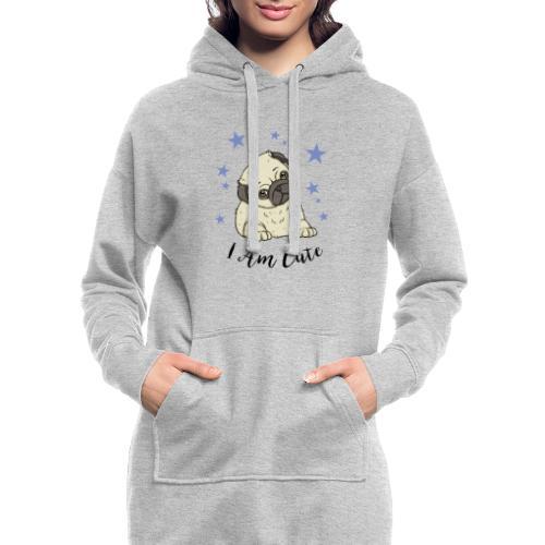 Mops Welpe I am Cute - Hoodie-Kleid