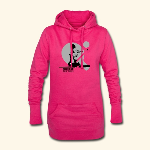 Respect All, Fear Nothing. Play Ping Pong - Hoodie-Kleid