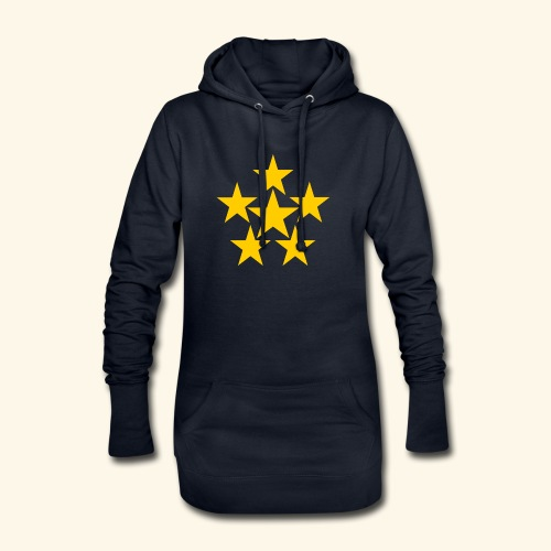 5 STERN gelb - Hoodie-Kleid