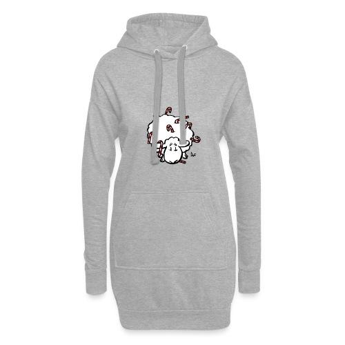 Candy Cane Sheep - Hoodie Dress