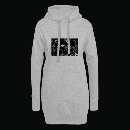 black bafti crew - Hoodie-kjole