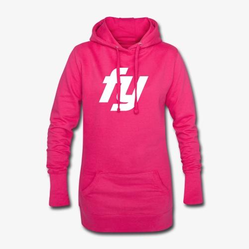 Logo Trendy Weiss - Hoodie-Kleid