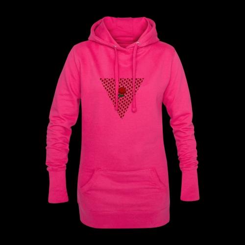 Dreieck Rose - Hoodie-Kleid