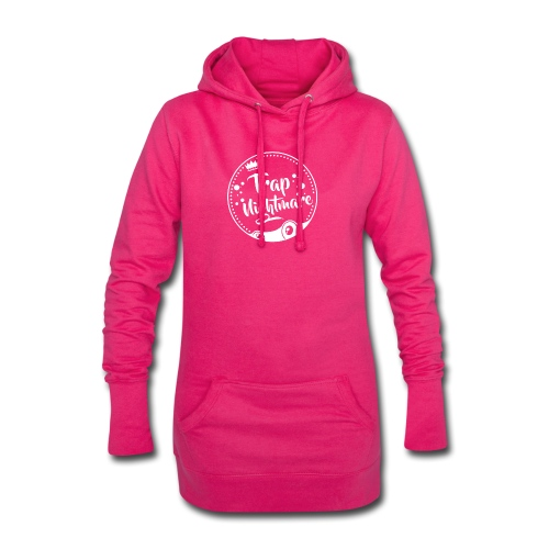Logo Round - Sweat-shirt à capuche long Femme