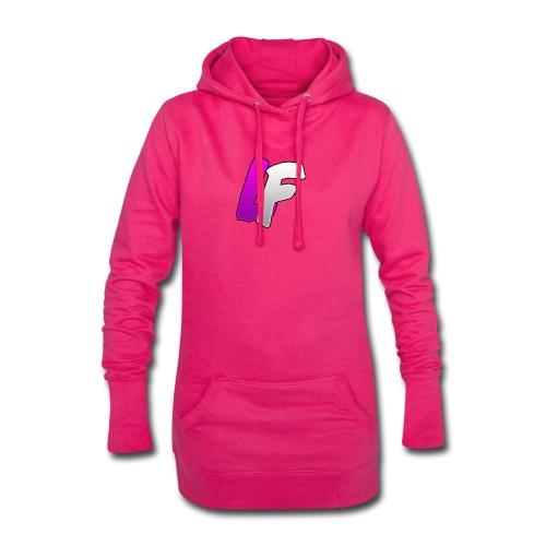 youtube logo - Sweat-shirt à capuche long Femme