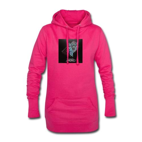 Space Zombii shirt logo design. - Sudadera vestido con capucha