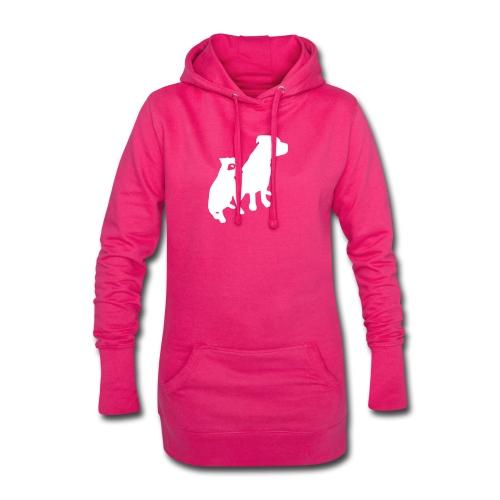 Doggy / zwei brave Hunde zum verschenken - Hoodie-Kleid