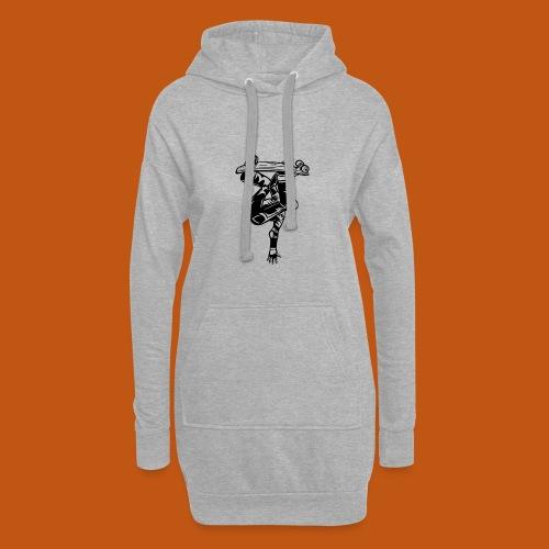 Skater / Skateboarder 03_schwarz - Hoodie-Kleid