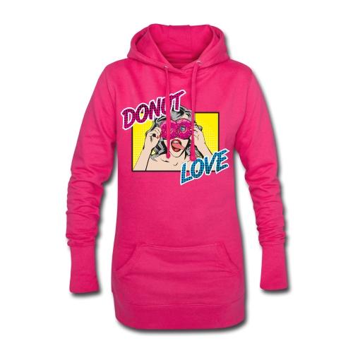 Popart - Donut Love - Zunge - Süßigkeit - Hoodie-Kleid