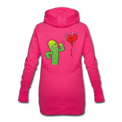 Cactus Flirting with a Heart Balloon - Hoodie Dress