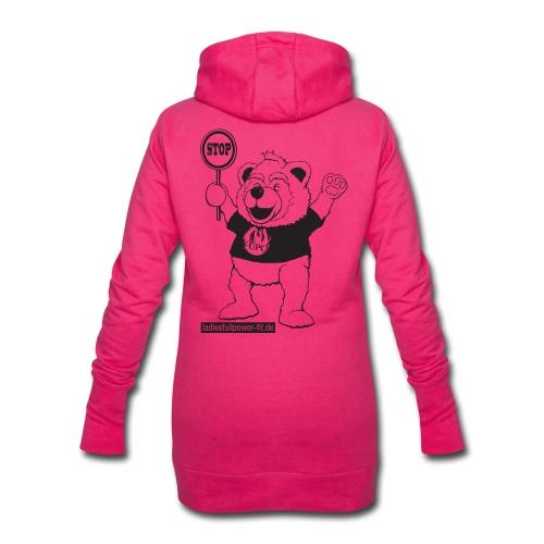FUPO der Bär. Druckfarbe schwarz - Hoodie-Kleid