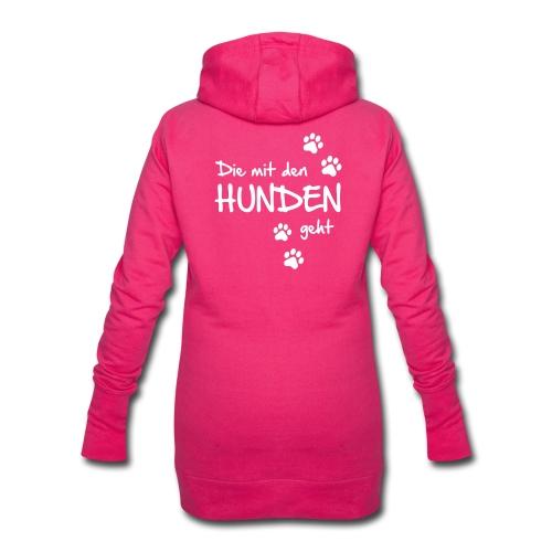 Die mit den Hunden geht - Hoodie-Kleid