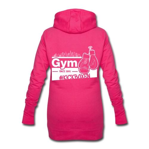 Gym Druckfarbe weiss - Hoodie-Kleid