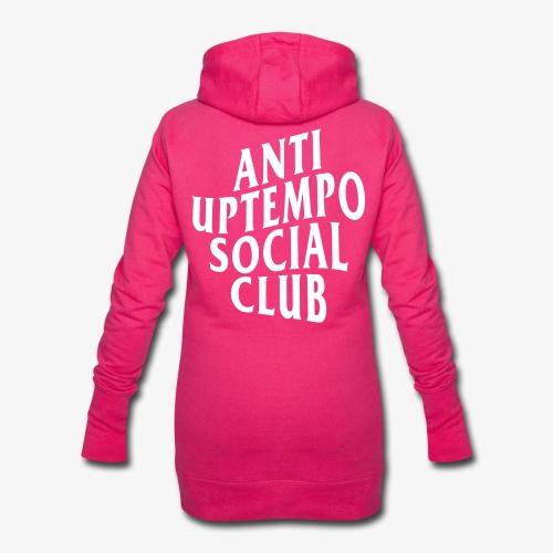 logo anti uptempo social club - Sweat-shirt à capuche long Femme