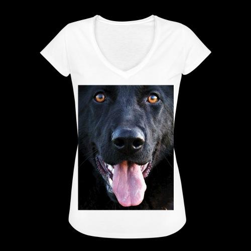 black-german-shepherd-lar - Women's Vintage T-Shirt