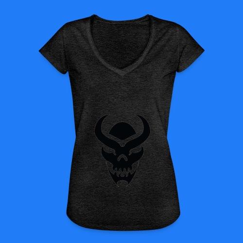 TRIBAL SKULL NOIR - T-shirt vintage Femme